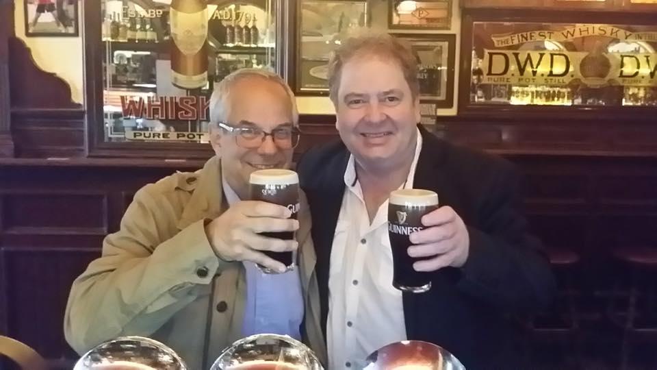With Pat Coldrick in Dublin, Ireland