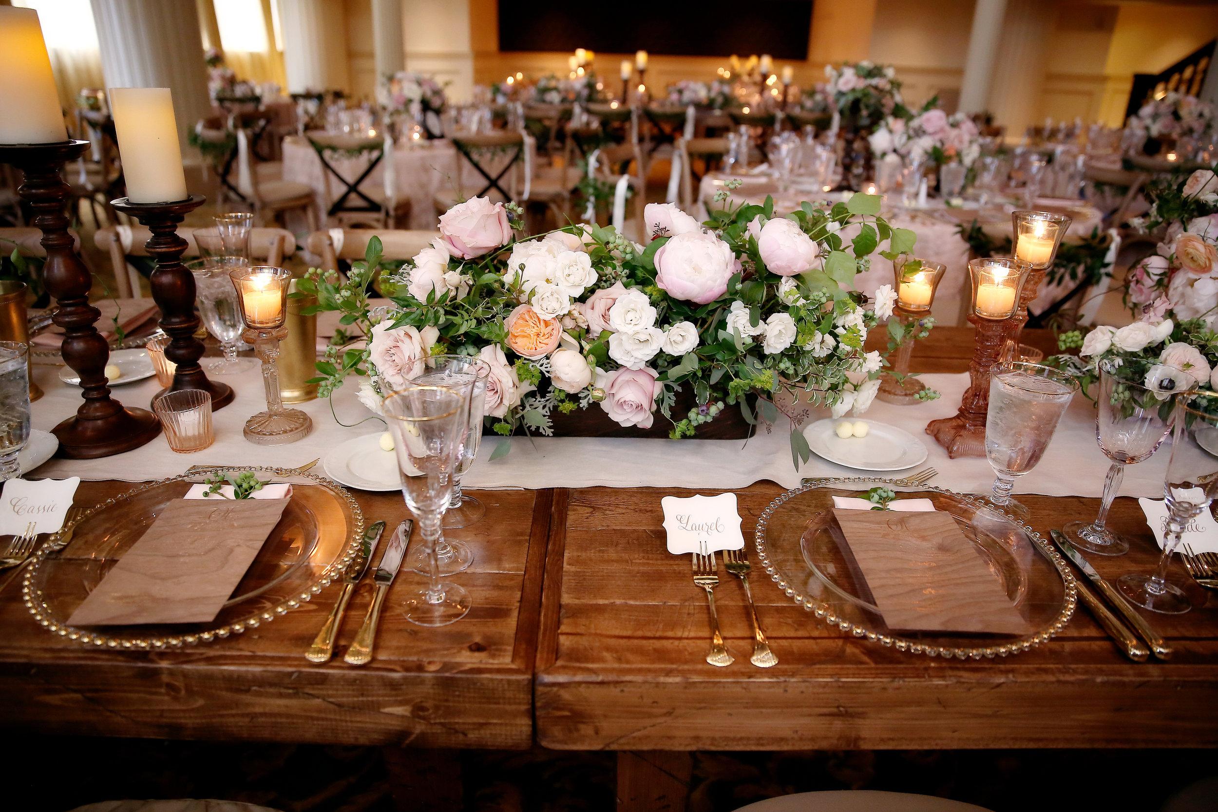 Adam & Olivia: A Rustic Ballroom Wedding, The Knot