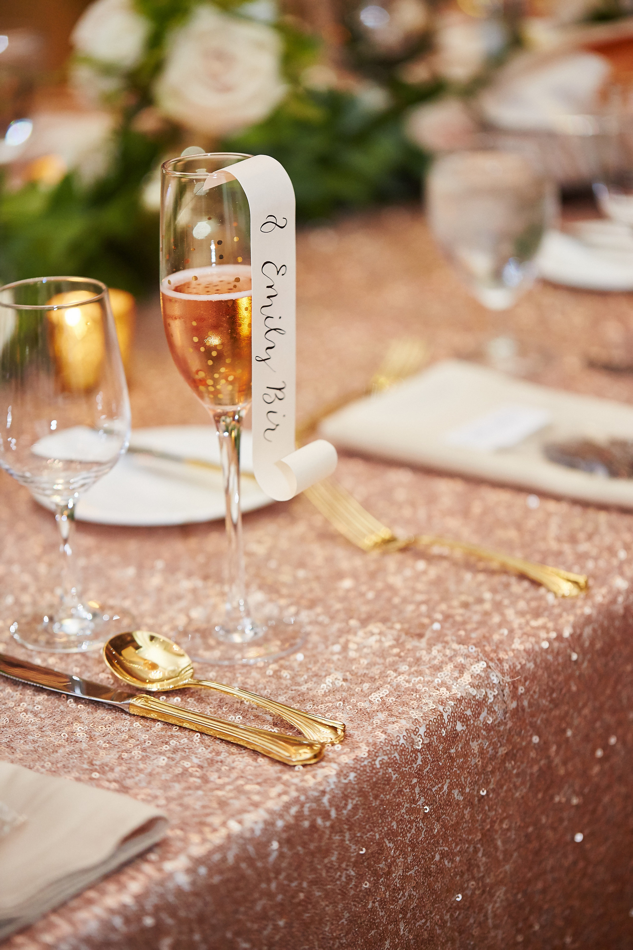 Champagne Glass Place Card