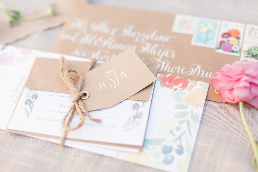 Envelope Addressing & Monogram Tag