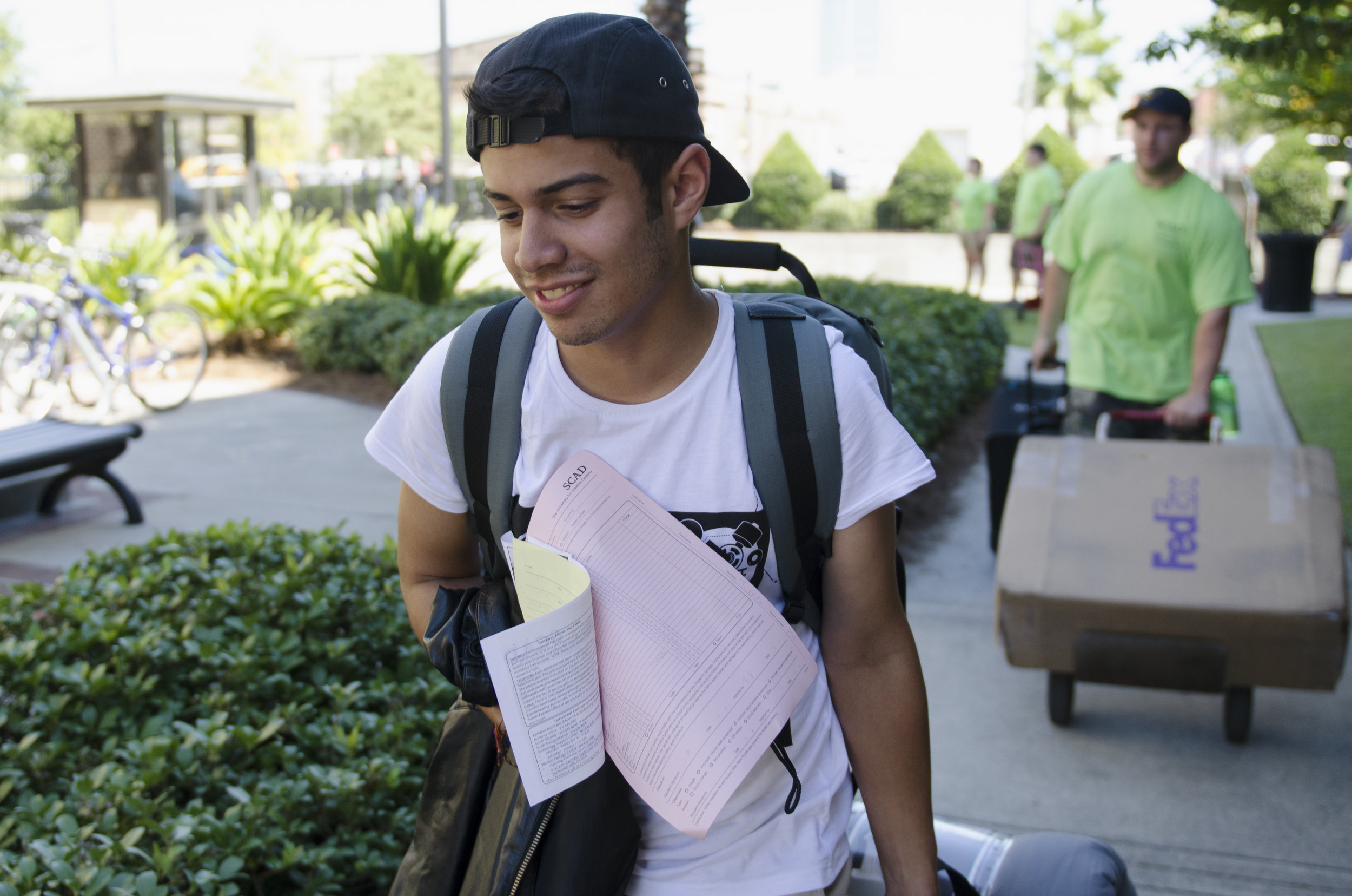 2009    Christian Rodriguez (a graduate of the first SALT class) as he got to his first day on campus at SCAD.