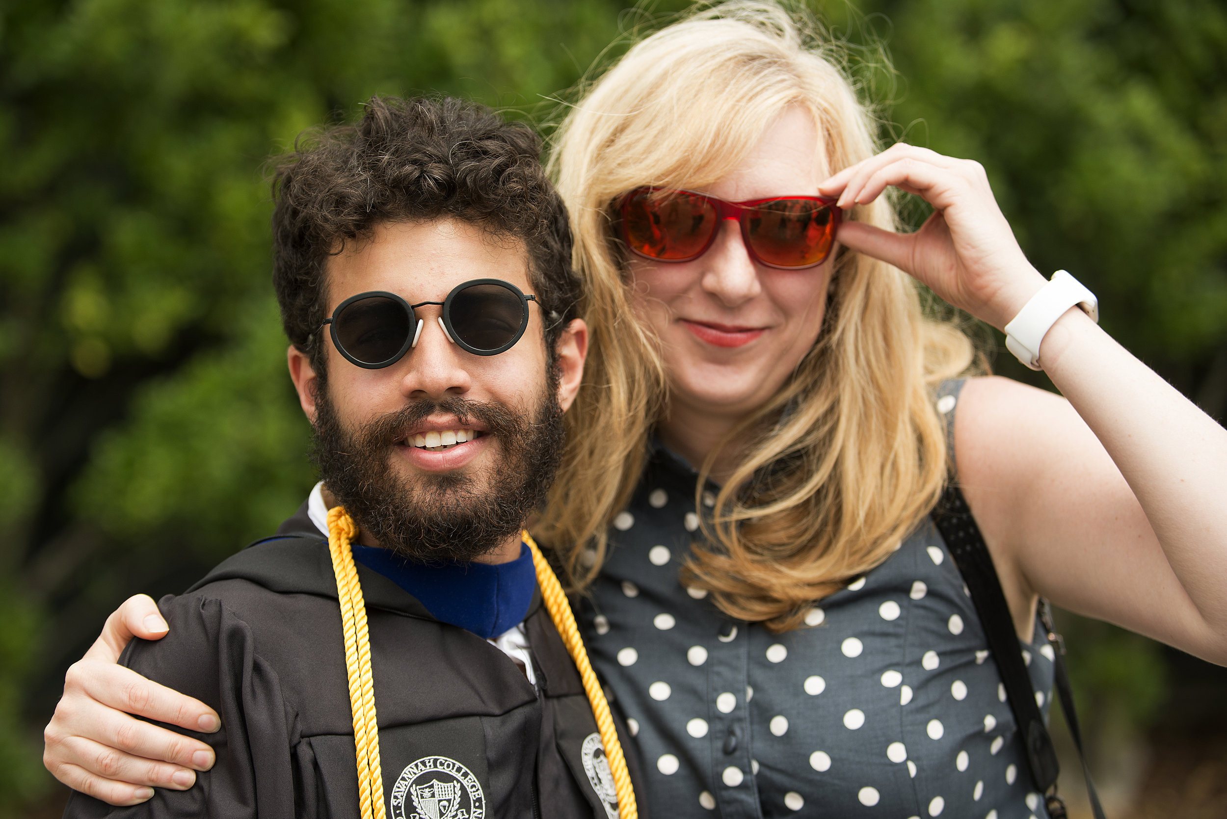 2015    Christian Rodriguez and SALT founder Alicia Hansen at his SCAD graduation.