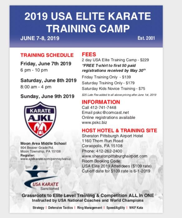 2019 USA Karate Elite Training Camp — PSKC