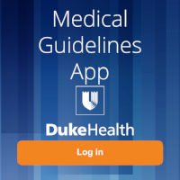 Medical Guidelines App Homepage