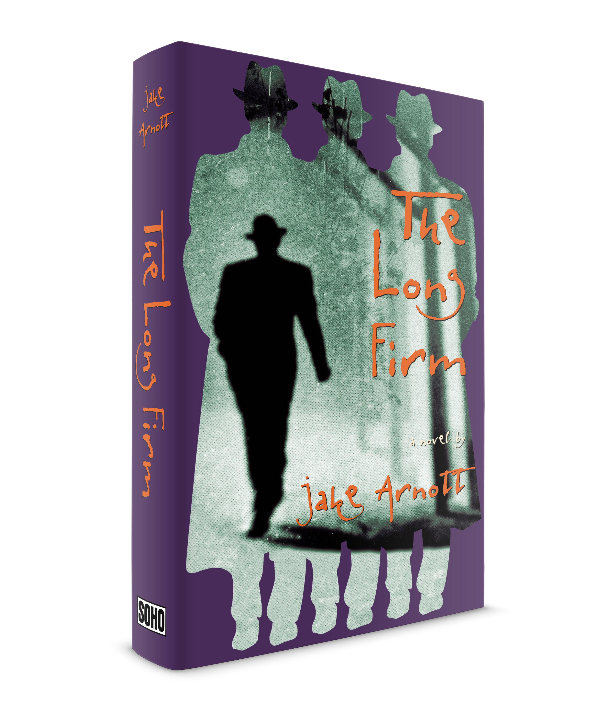 The Long Firm, a novel by Jake Arnott. Published by Soho Press. This was the first jacket of three that I designed for Jake's books. All three capture the seedy gangster lifestyle of London in the 1960s, including their interest in show business society. Harry Starks is the protagonist, a ruthless contemporary of the infamous Kray brothers. Evil, menacing yet a romantic. I always pictured Harry in shadow. Dark and imposing, and always with his boys close by. An excellent novel told in multiple voices. The book was so popular the BBC made a TV movie of it. A 4-part series I haven't seen but would love to.