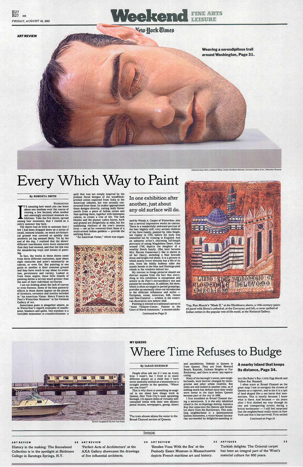 The New York Times weekend section.  James Reyman has been a guest Art Director for the Weekend section of The New York Times.