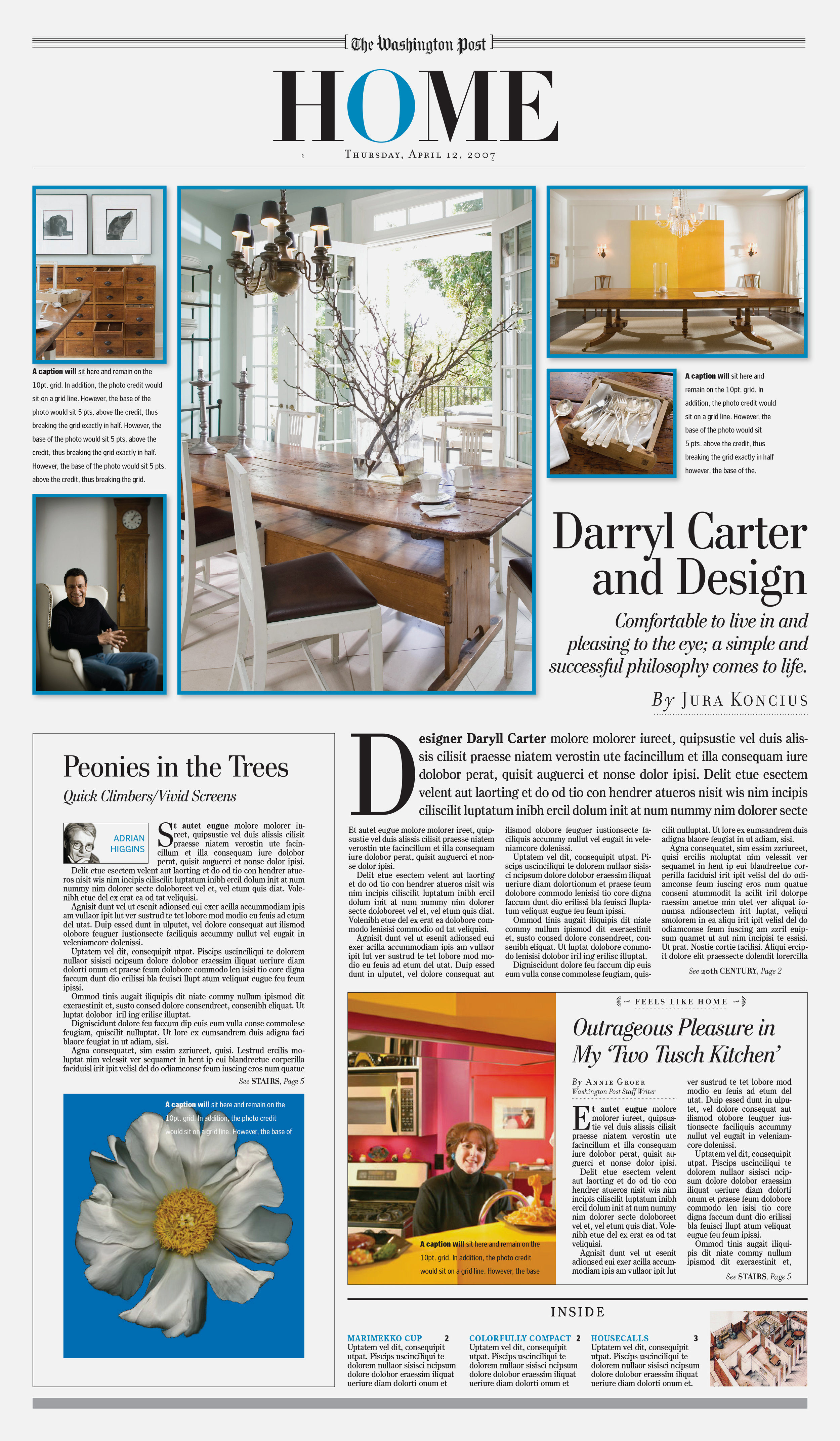 The Washington Post Home Section Redesign