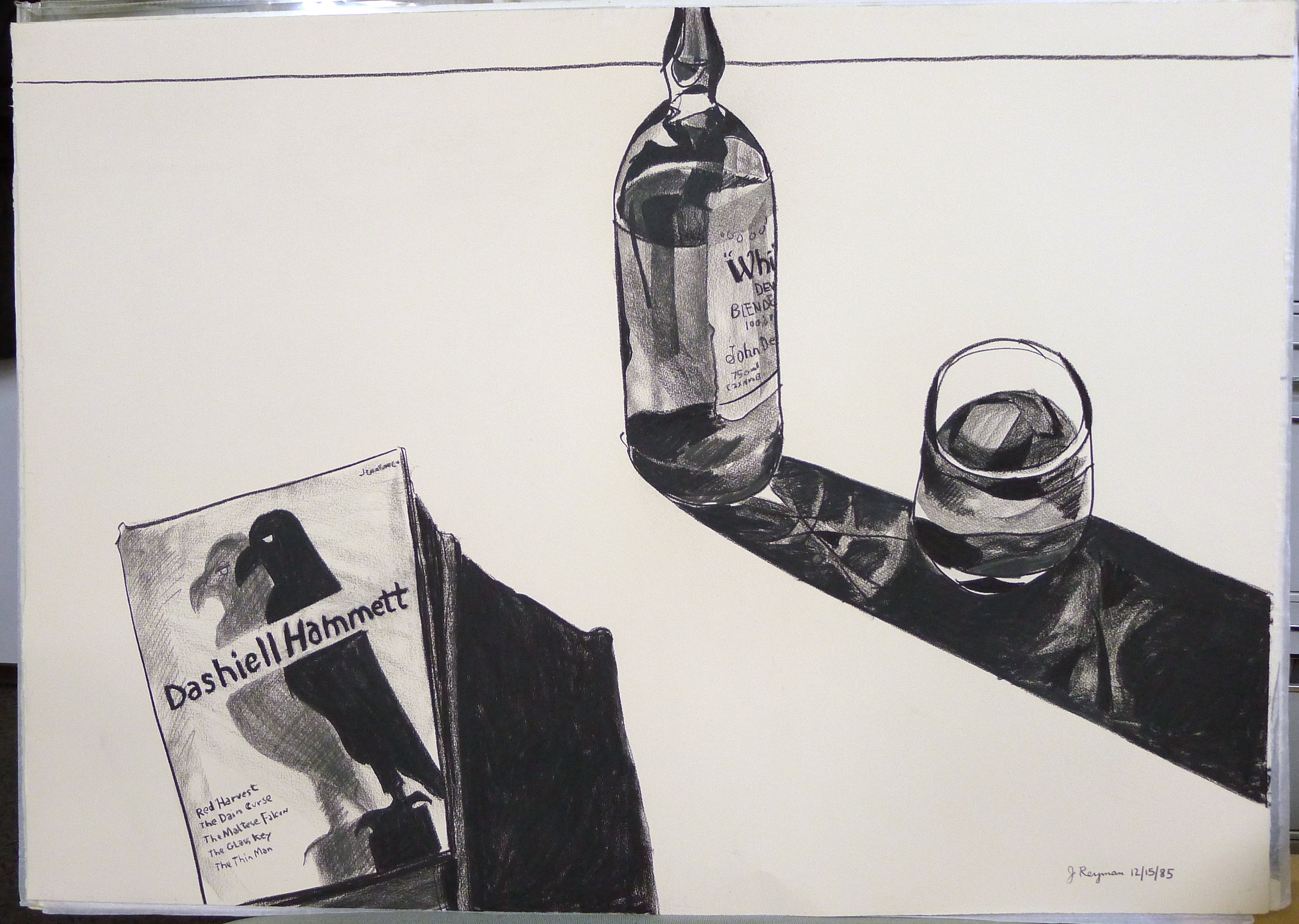 The Dashiell Hammett Reader • 29 x 41 inches • Charcoal on Arches Cover