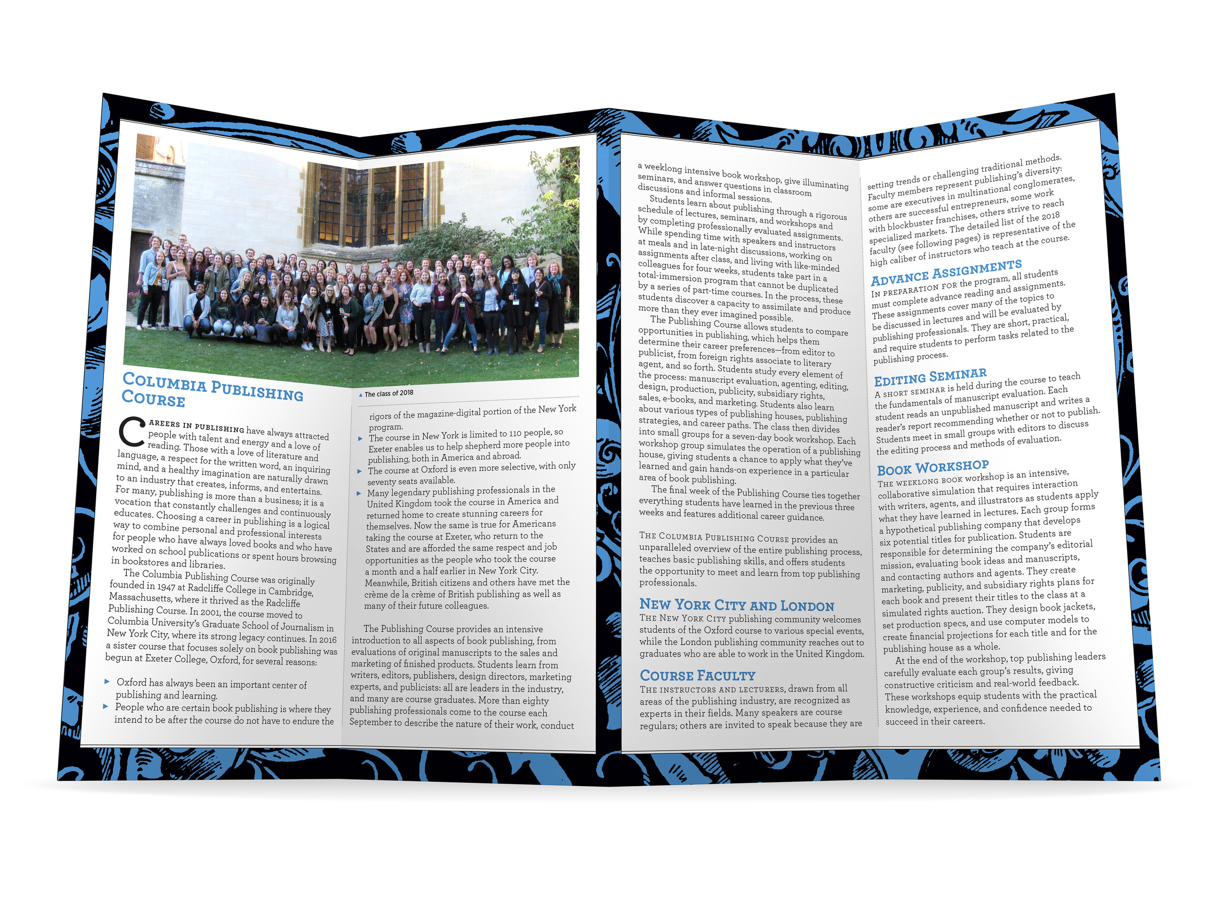 The Columbia Publishing Course Brochure, for Columbia University