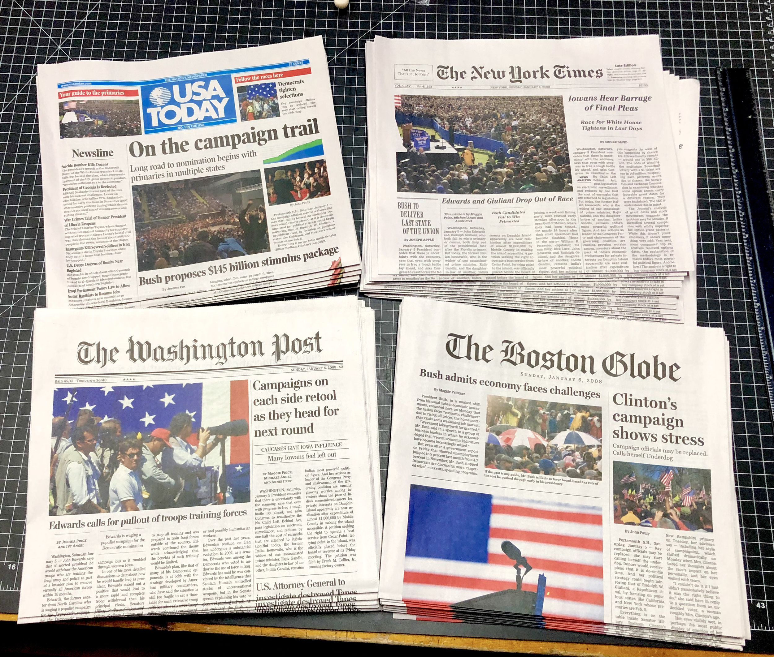 4 printed newspapers Hillary and Clinton.jpeg