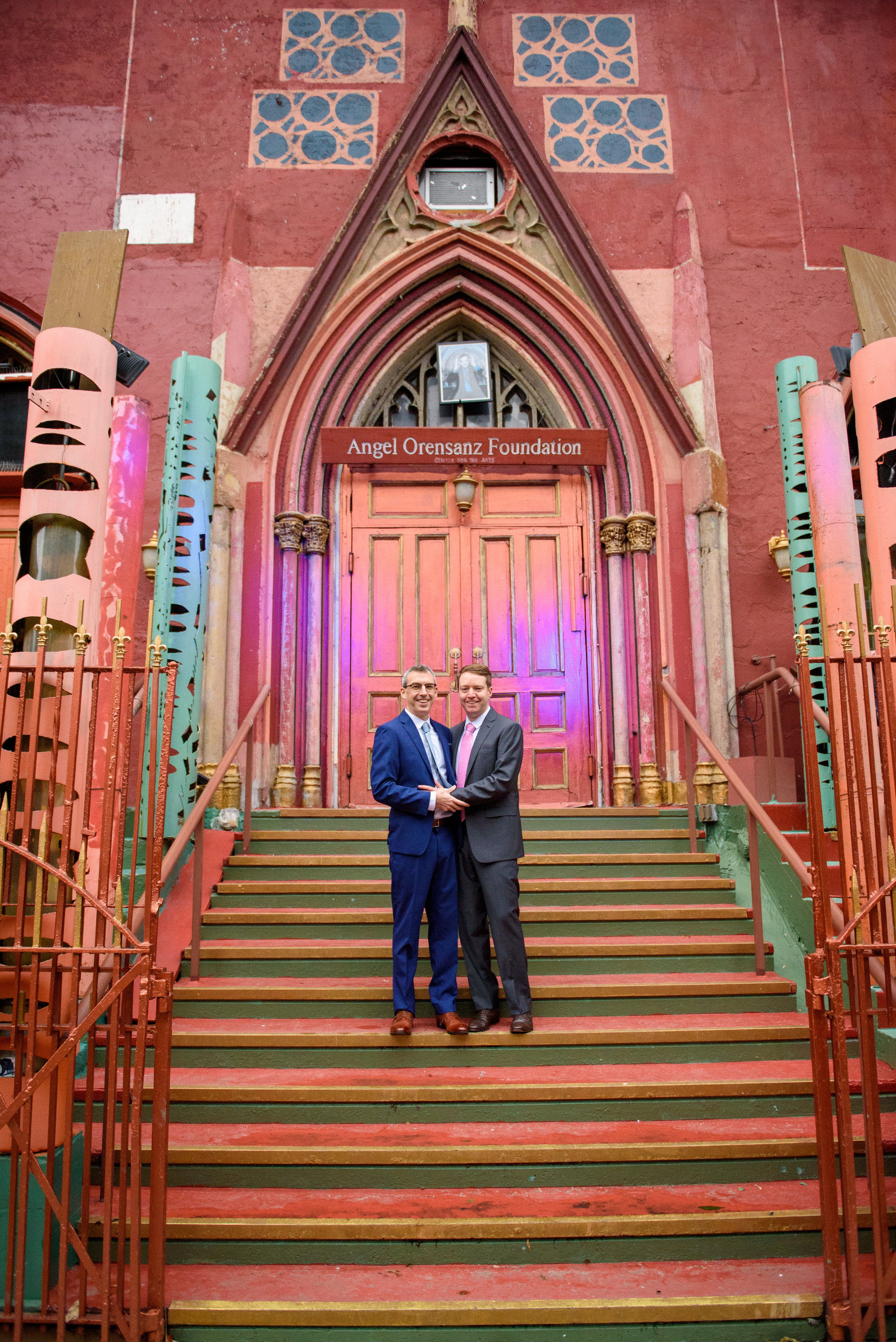 JOHN + ERIC - DRAMATIC LOWER EAST SIDE VENUE ⚡ CUSTOM SUNSET LIGHTING TREATMENTS ⚡ A FLOATING SUPPER ⚡ VOWS WE CRIED THROUGH