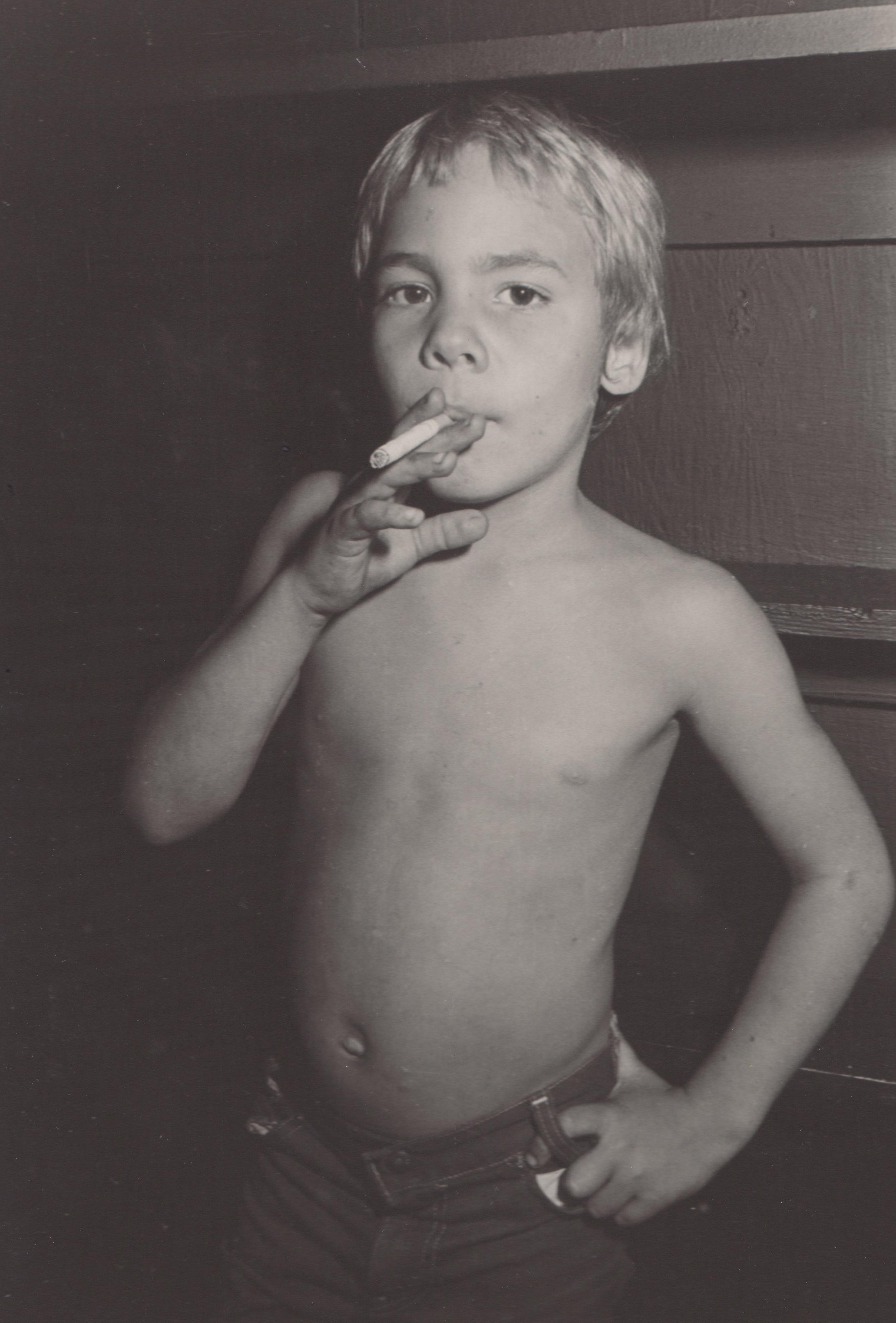 Smoking Kid - Taken at Zero Club Hollywood in 1981.
