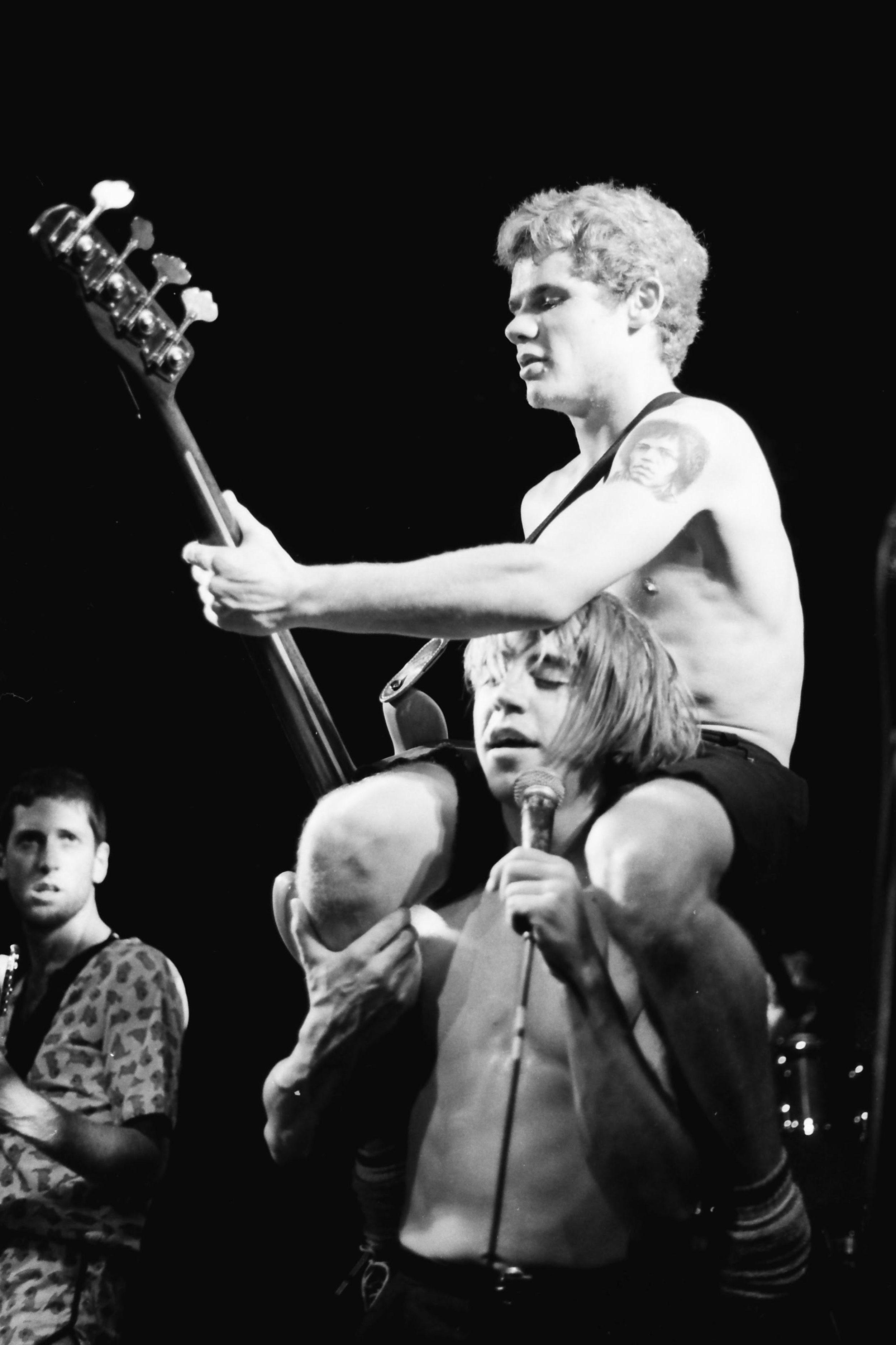 "Flea & Anthony   ""Early Red Hot Chili Peppers photo shot at a Soundstage somewhere in Hollywood before their first album"""