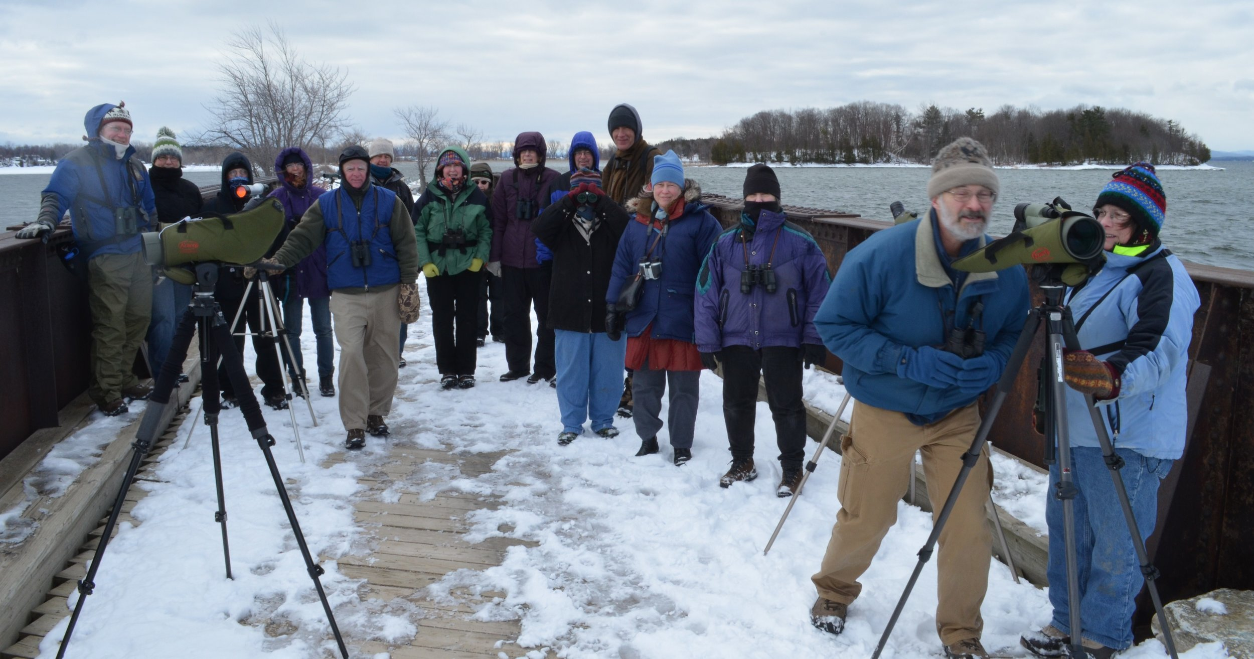 A Green Mountain Audubon Society field trip to the Colchester Causeway to view winter birds