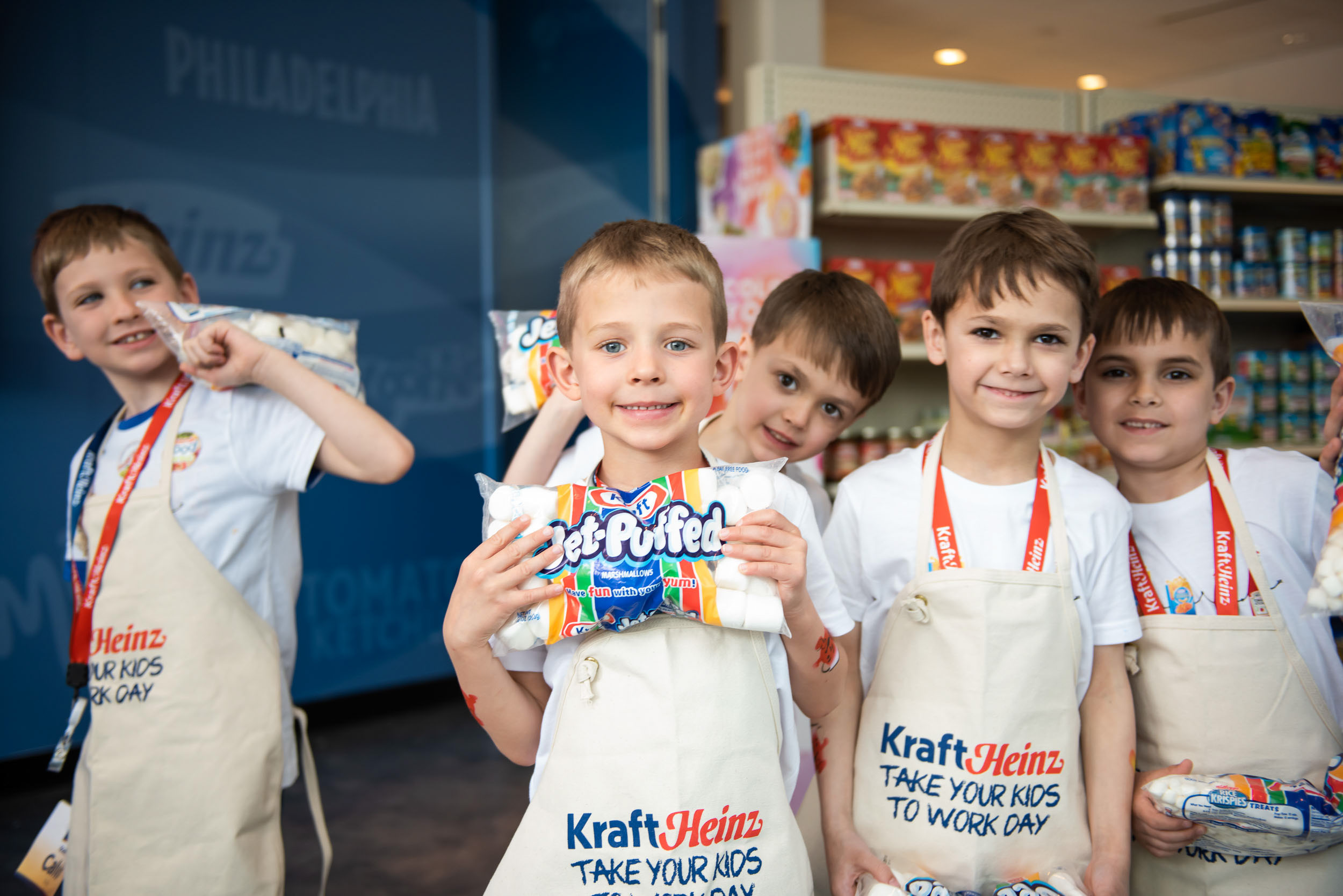 TAKE YOUR KIDS TO WORK DAY - This event brings out the kids in us, too! We followed along as the Kraft Heinz kids took a turn in the kitchen, danced it out, and even met Mr. Peanut and the Kool Aid Man.