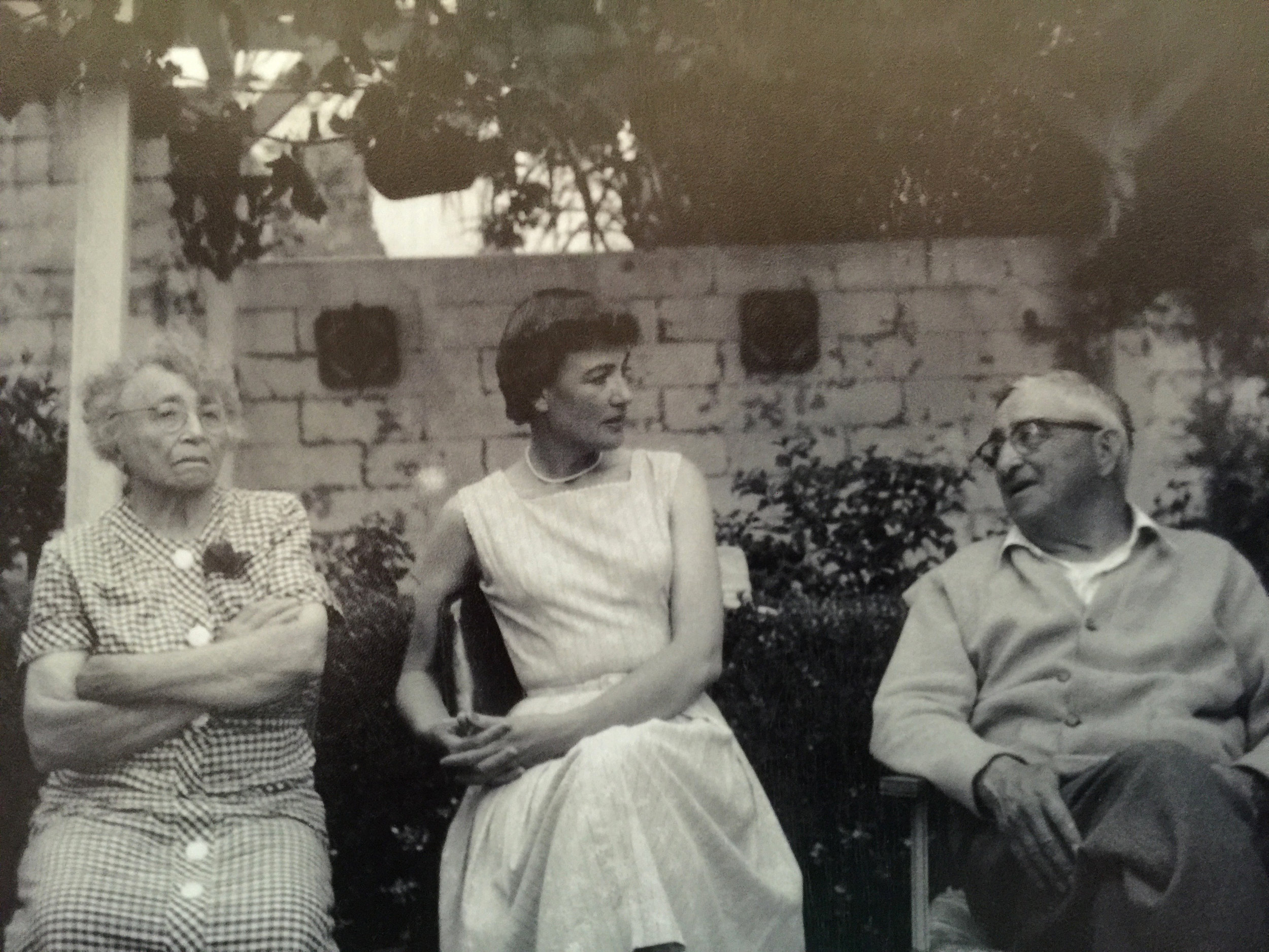 With Vincent & Mary, late 50s