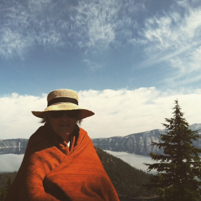 At Crater Lake, after a trip to the Shakespeare Festival in Ashland with Bruce & Bethany