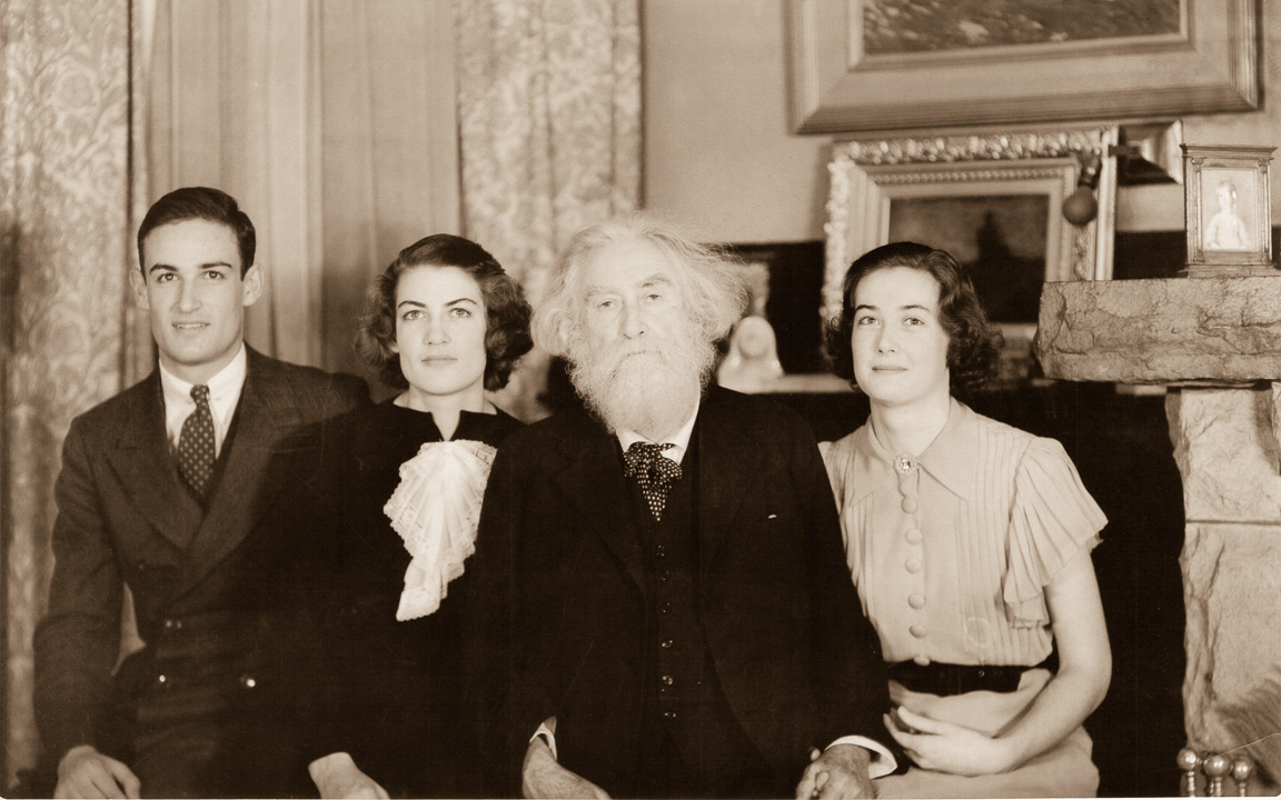 C.E.S. Wood with Lal, Tash, and Nan