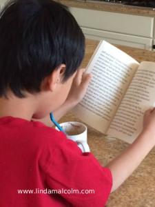 Liam reading