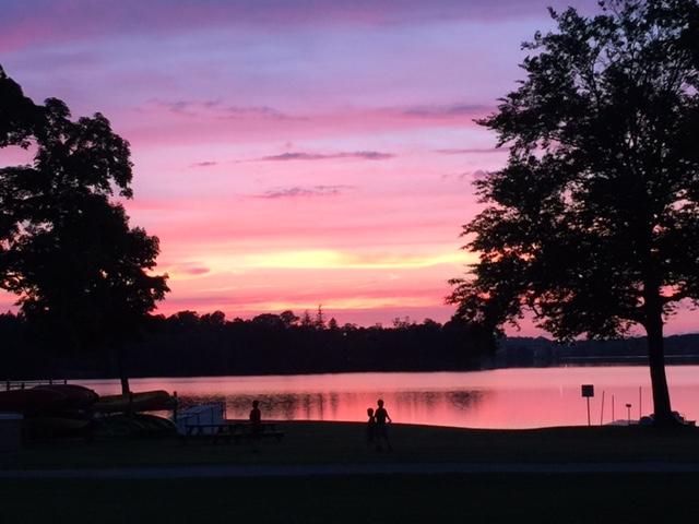 sunset at Lake Q