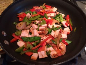 veg and turkey to the skillet