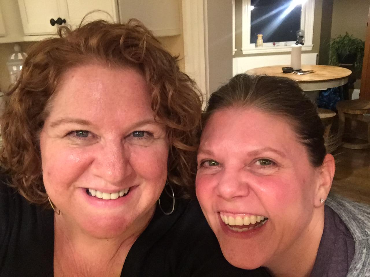A 47-year-old friendship... Vicki, my friend since kindergarten.