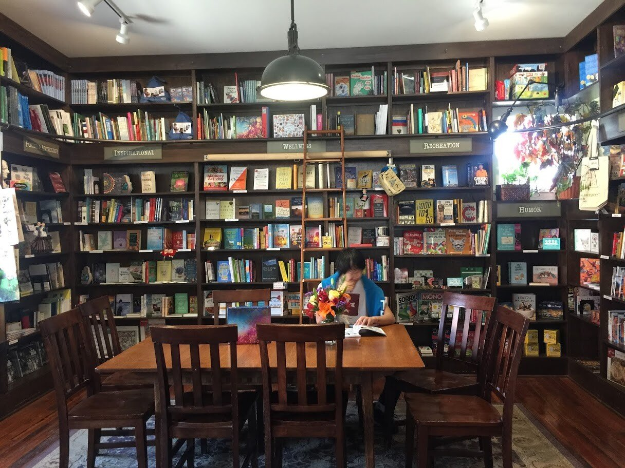 Again at the River Lights Bookstore in Dubuque, Iowa, the solid wooden table surrounded by shelves and shelves of books beckoned Will. How could anyone resist?