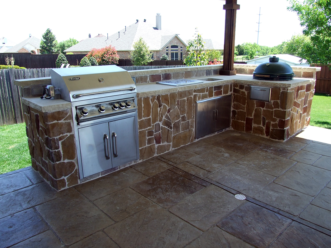 BMR pool and patio outdoor grill green egg.jpg