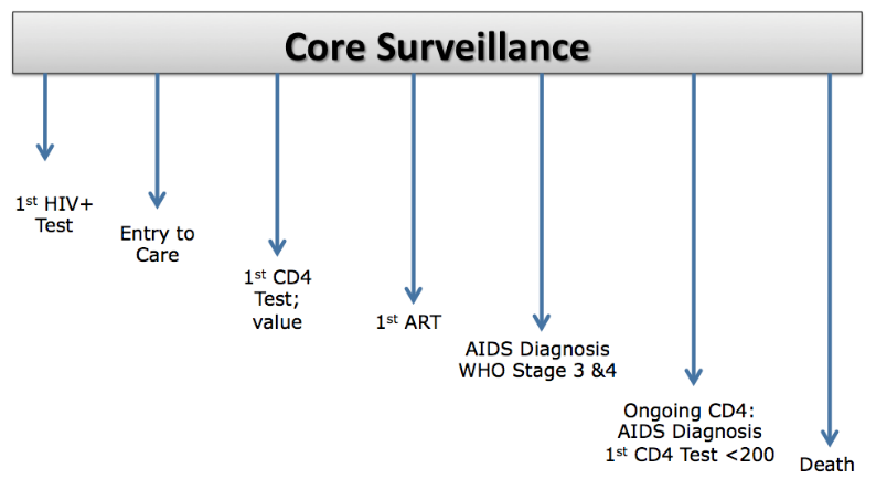Figure 1. SALVH Core sentinel surveillance events