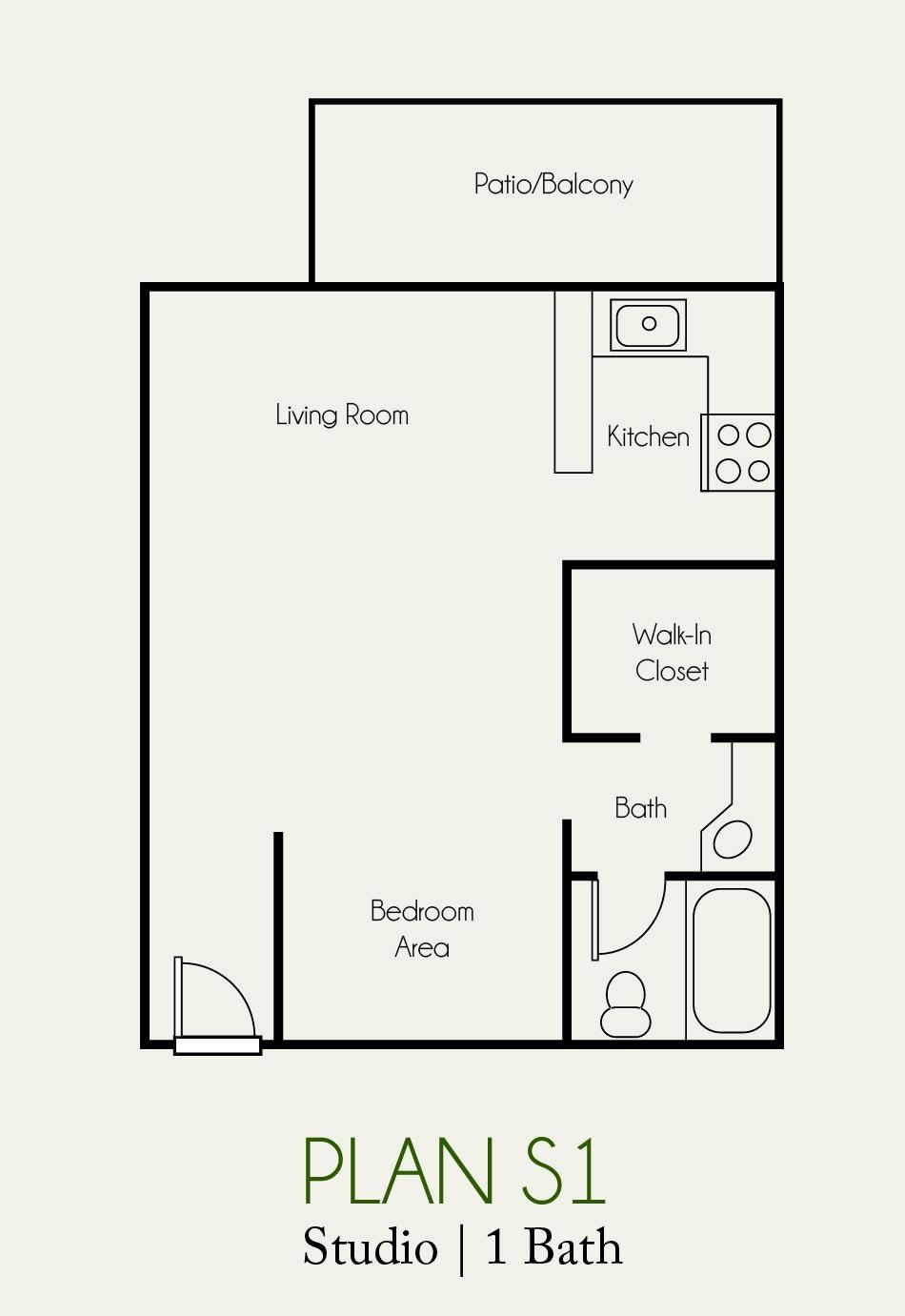 The Landing Studio Floorplan