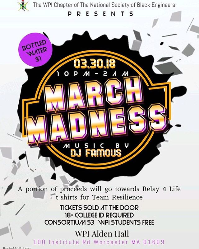 #BCKCampuseSNearYou - TONIGHT !!! If you are in the Worcester MA area, make sure to stop by March Madness at WPI HOSTED by @wpinsbe