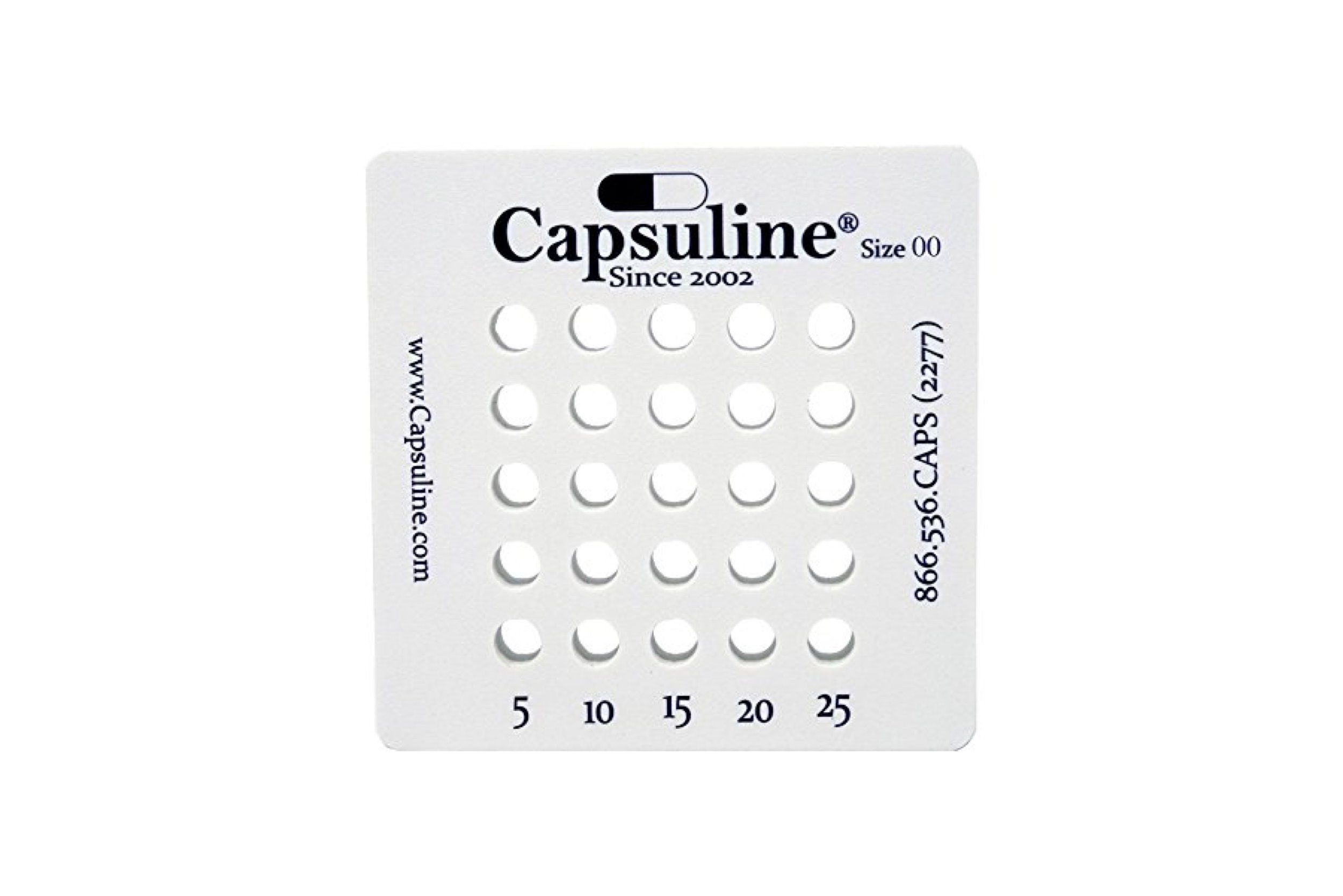 Holding Tray for size 00 capsules