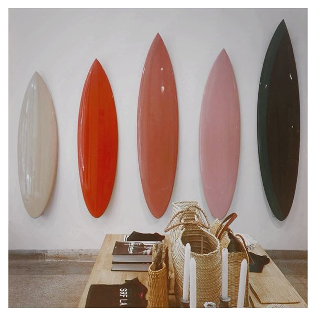 #tbt to that time we walked into @hmerrick and saw all our brand colours on the wall 🏄🏼♀️ #synchronicities #surfboardt #oneofeachplease