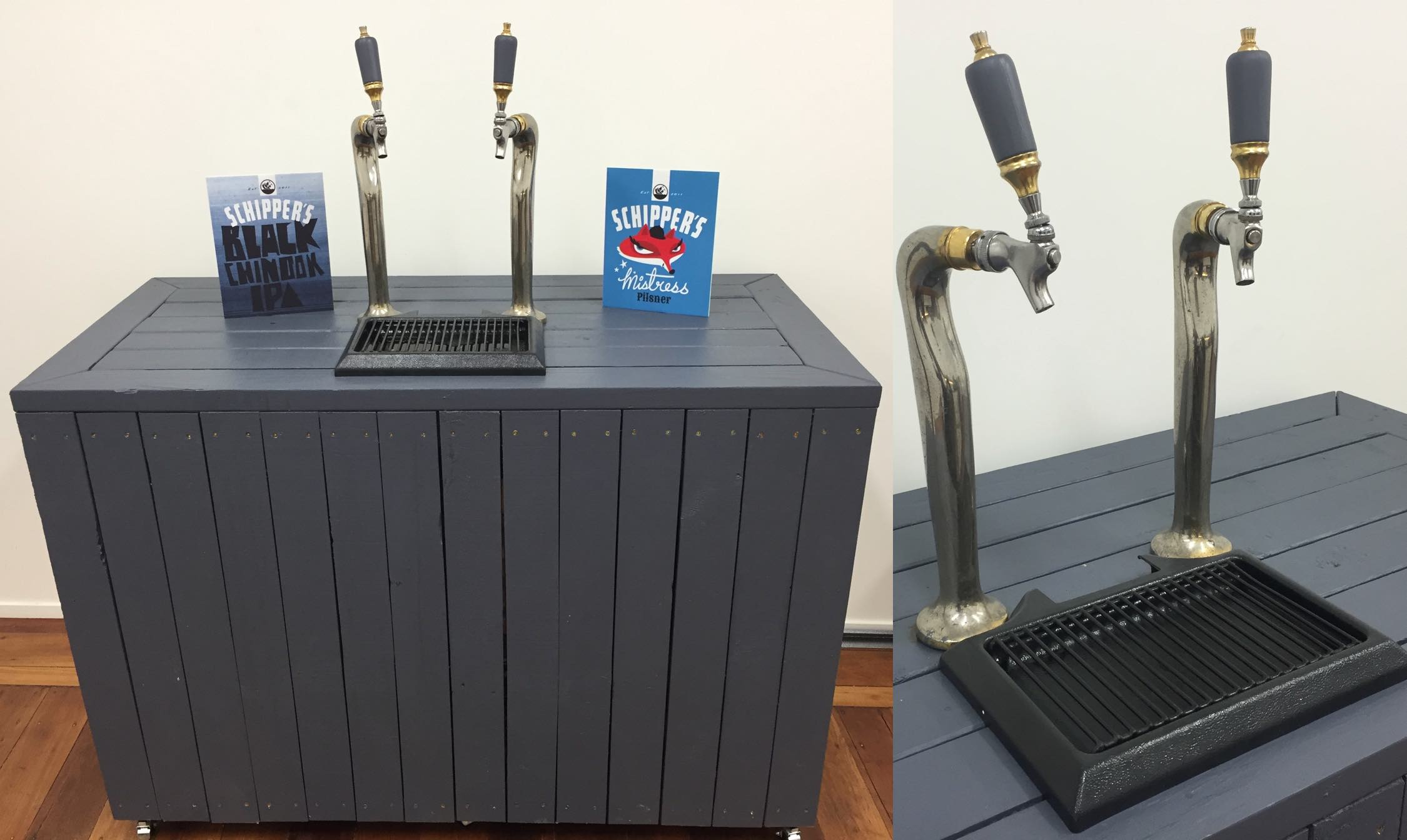 The beer tap setup which we were looking to replace