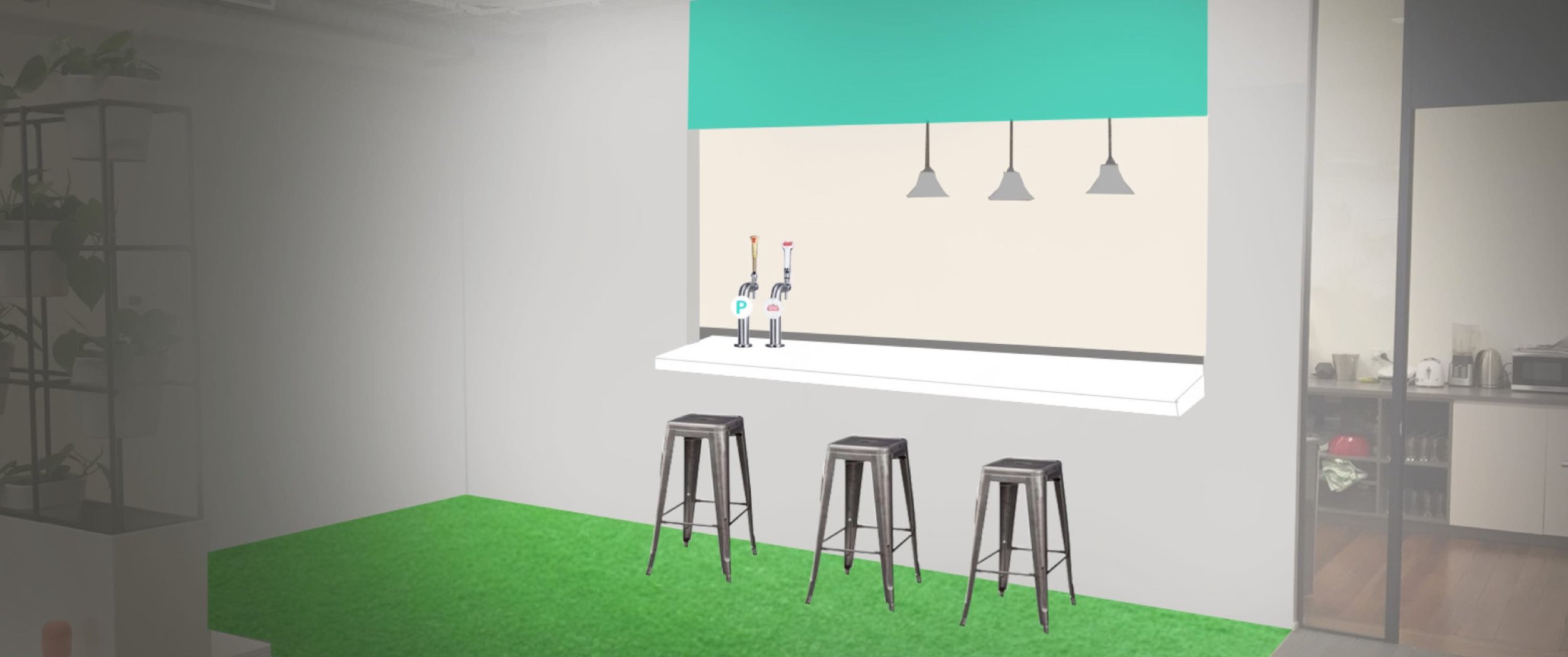 Bar Mockup (made in less than 60 seconds) that acted as a brief with our builders.