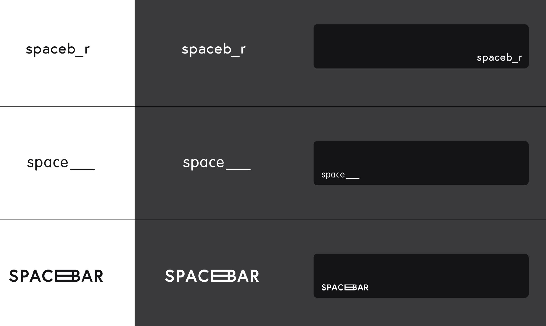Early stage logo concepts for Spacebar