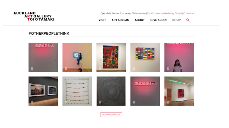 #otherpeoplethink  —  Auckland Art Gallery Homepage