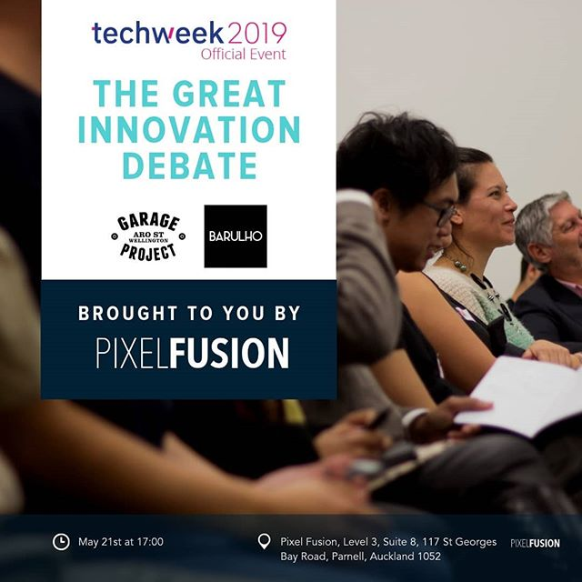CAPABILITY • CULTURE • PROCESS • GOVERNANCE⠀ Which is more important for successful innovation?🤔⠀ ⠀ Pixel Fusion's @techweeknz #InnovateDebate19 is just around the corner!📢Come along on 21 May at our place to hear our two teams duke it out. We're looking forward to the duel - who will win?! 🏆⠀ ⠀ #auckland #techweek19 #InnovateDebate19 #goodfortheworld #designstudio #eventspace #techweek #techweeknz #debate #TWNZ19 #innovation #technology