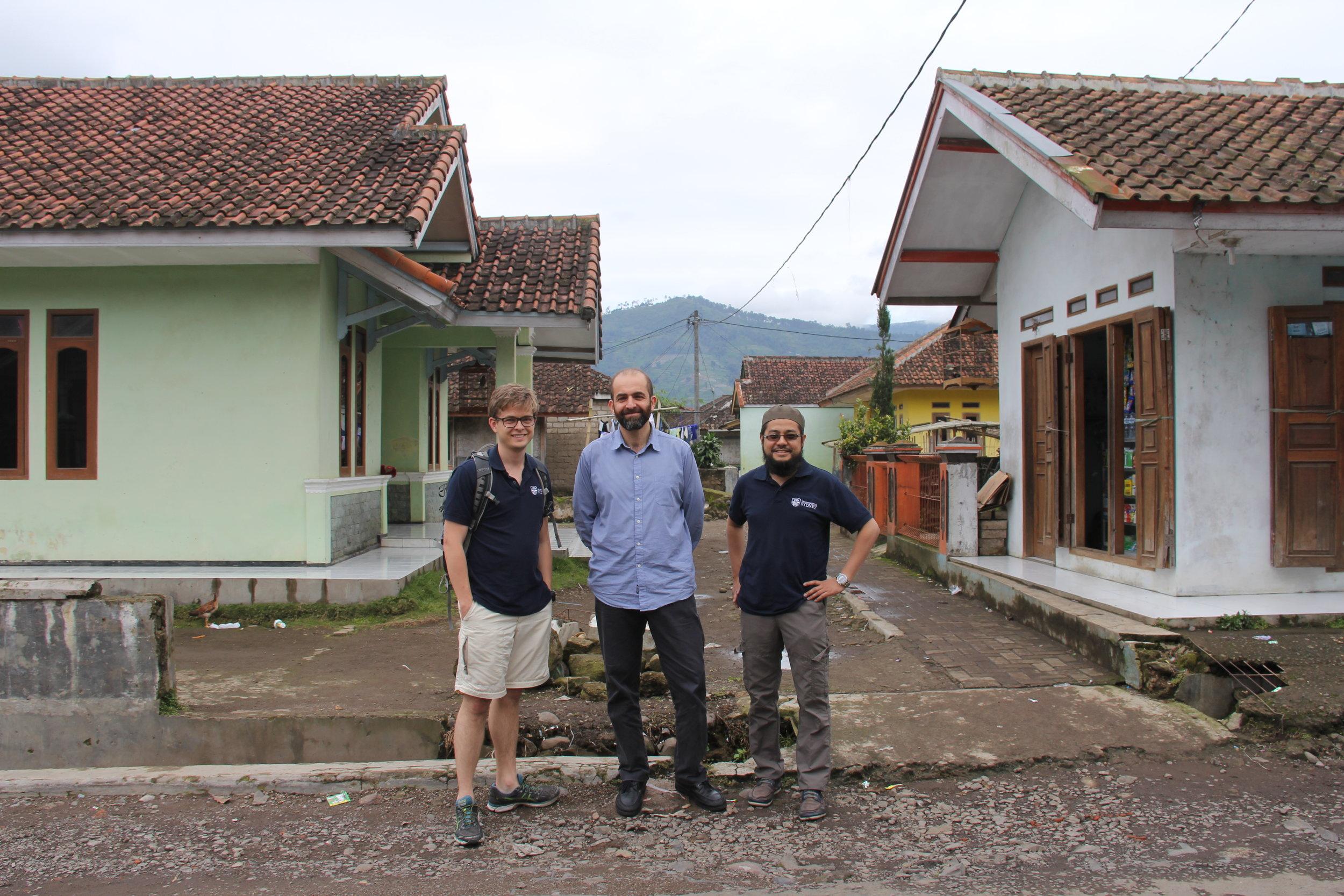 The ACFR team from left to right. William Reid, Salah Sukkarieh, Muhammad Esa Attia