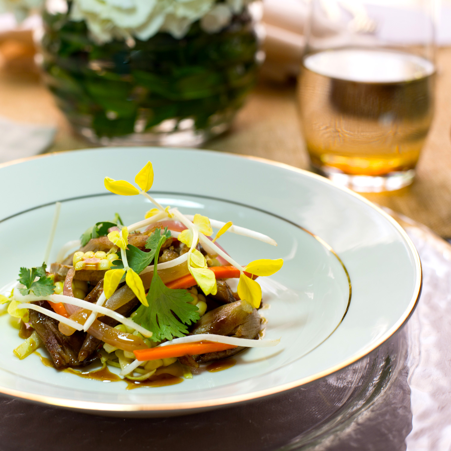 pea shoot w bell pepper and duck salad 2.jpg