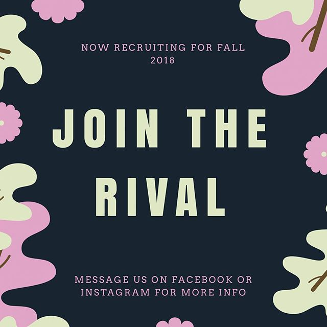 Go to events for free, meet some cool people, look amazing to future employers, and write whatever you want! Nows your chance- application in bio, dm any questions #therival #Cofc #recruitment