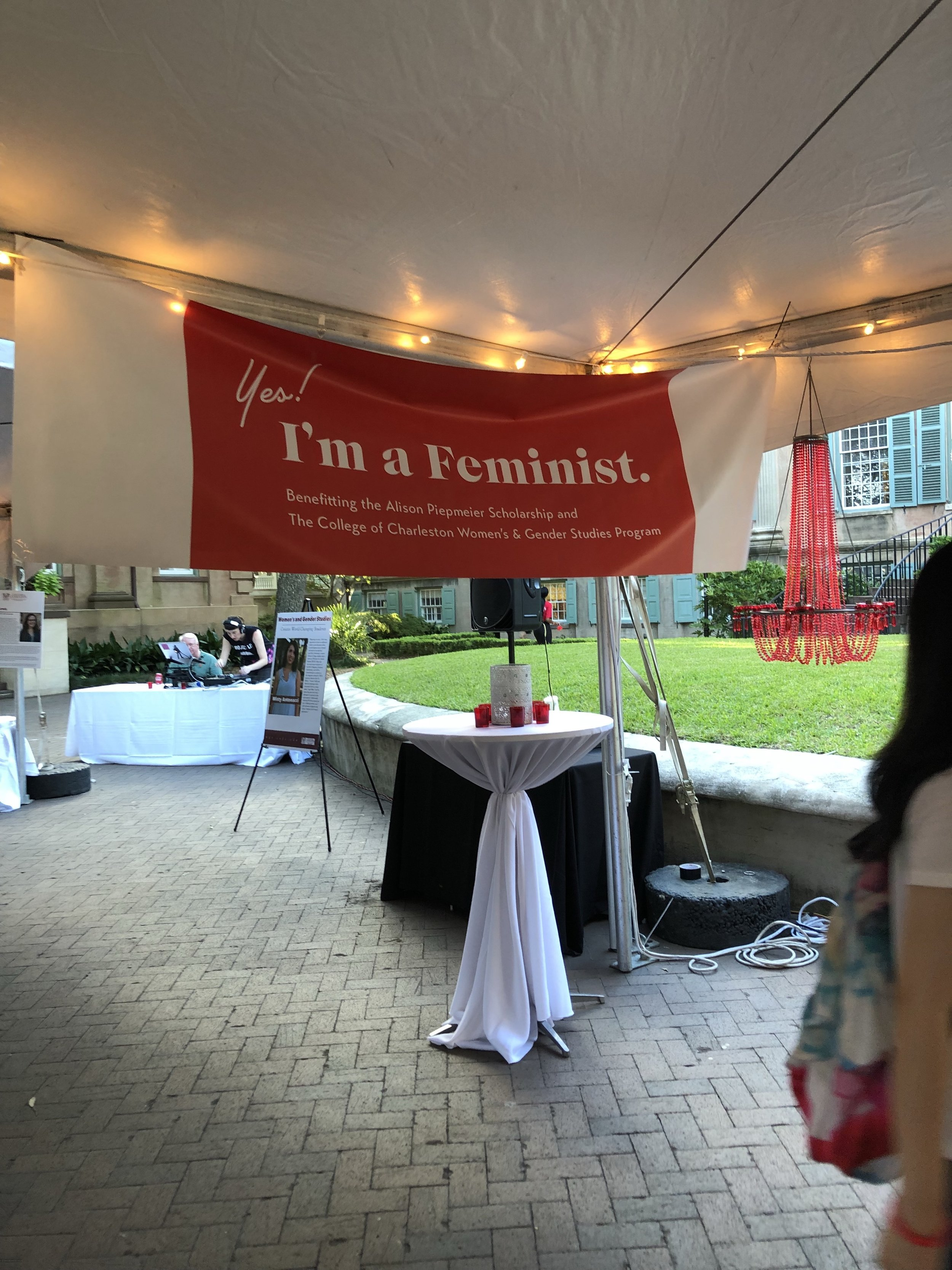 The College's Women's and Gender Studies (WGST) program held its sixth Yes! I'm a Feminist event in the Cistern Yard. Photo credits to Grey Parsons.