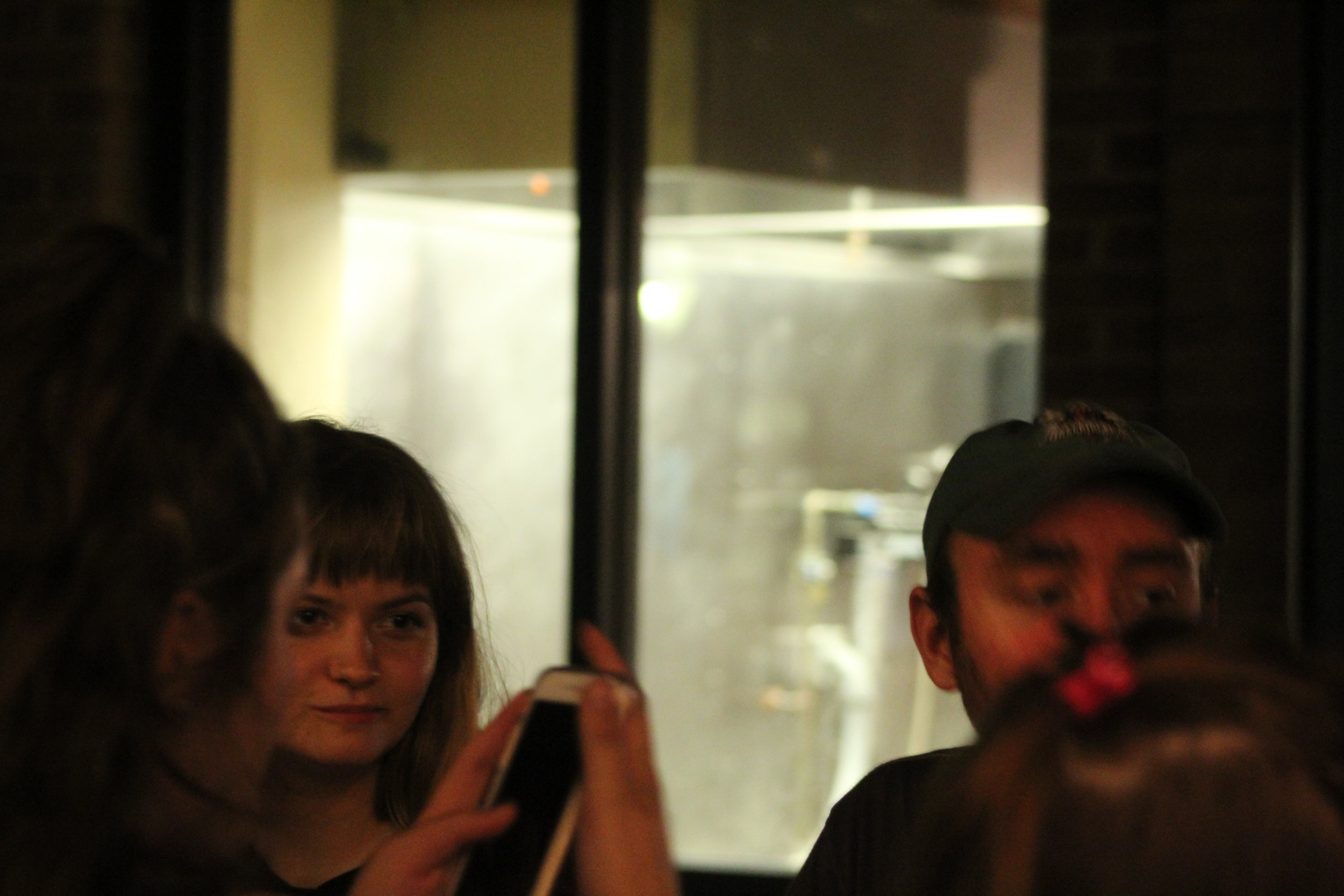Saw-player Molly Druga and violinist Dan Fetterolf