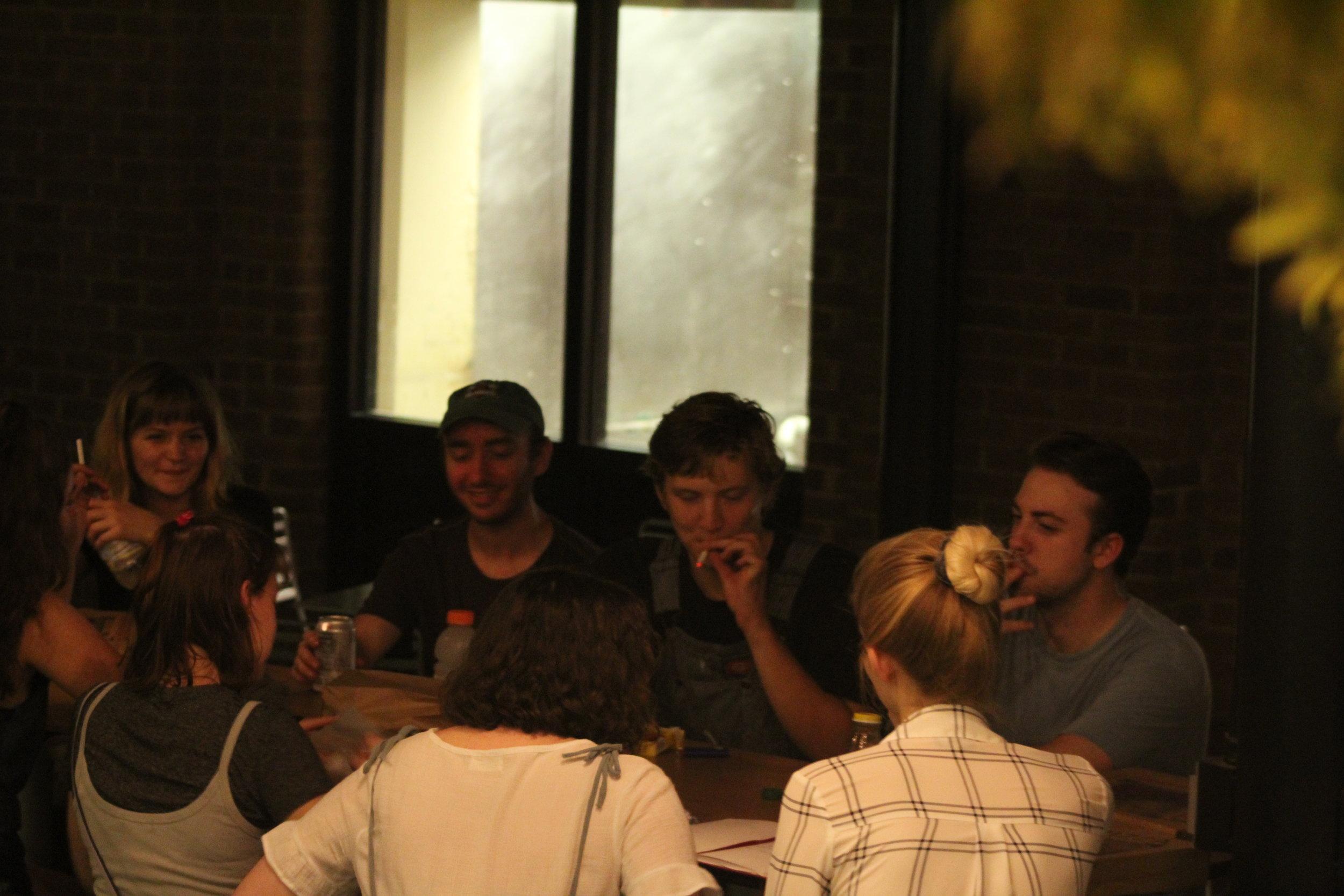 Back: Molly, Dan, Jackson, and Tim, Front: Minna Heaton, Emma, and Laighton Cain