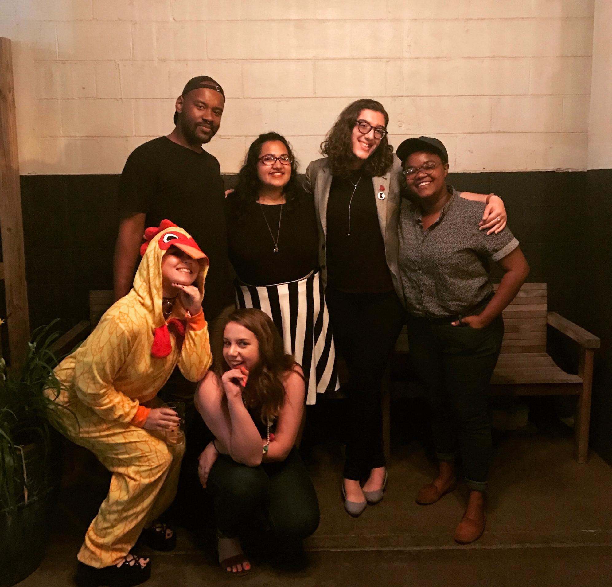 Back, L-R: Donovan Taylor, Zainab Hussain, Meredith Wohl, Alana Harris  Front: Erin Brown, Megan Dunn