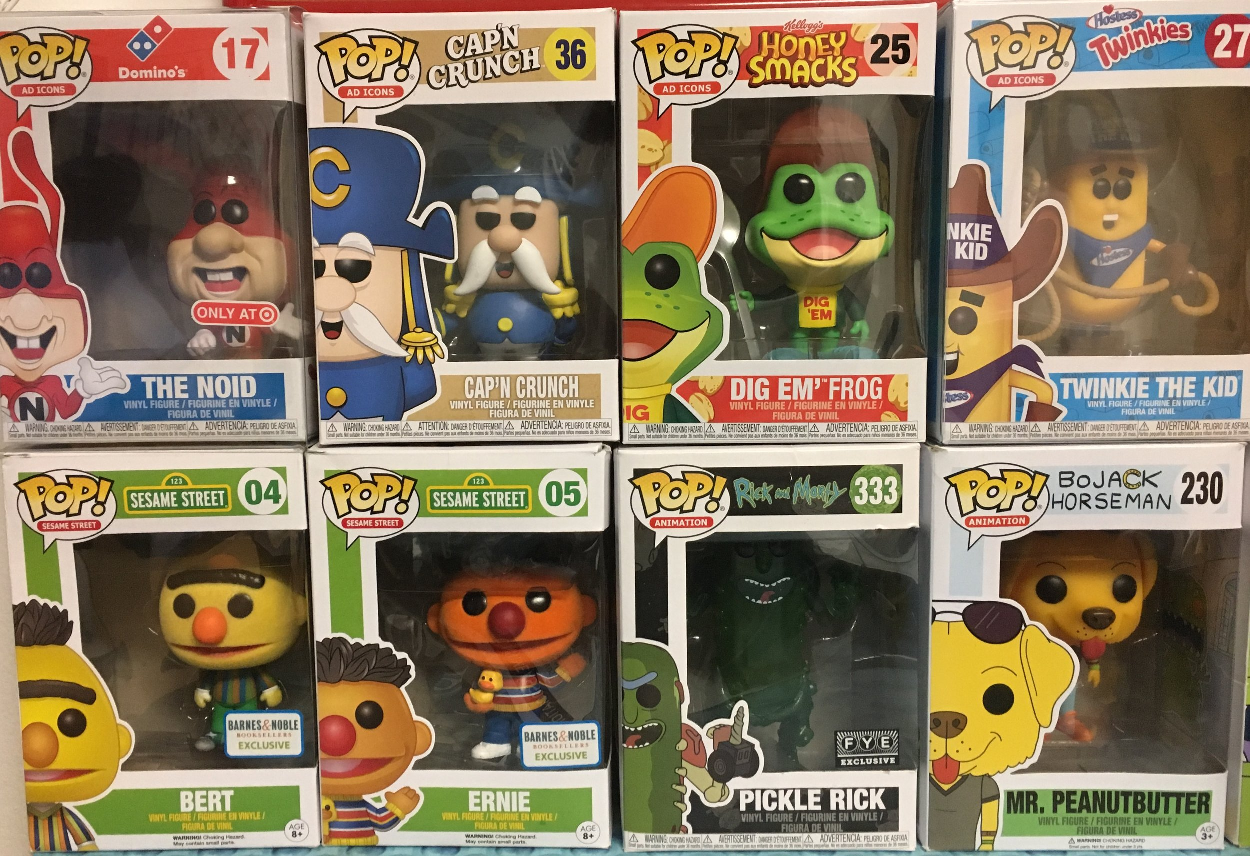 Indigo's collection of Funko Pops from Funko, Inc. that were held hostage by the government shutdown.  Photo by Indigo Walker