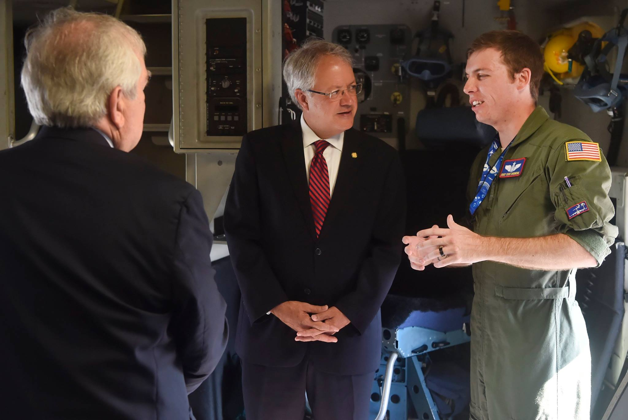 Photography from Joint Base Charleston. Beloved Mayor Tecklenburg in conversation.