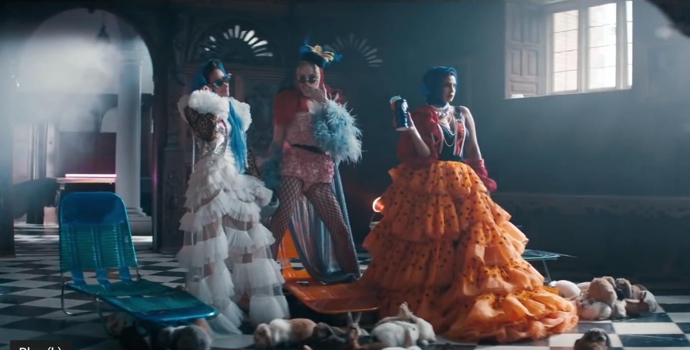 "From left: Danielle Jonas, Sophie Turner, and Priyanka Chopra Jonas in the music video for ""Sucker"""