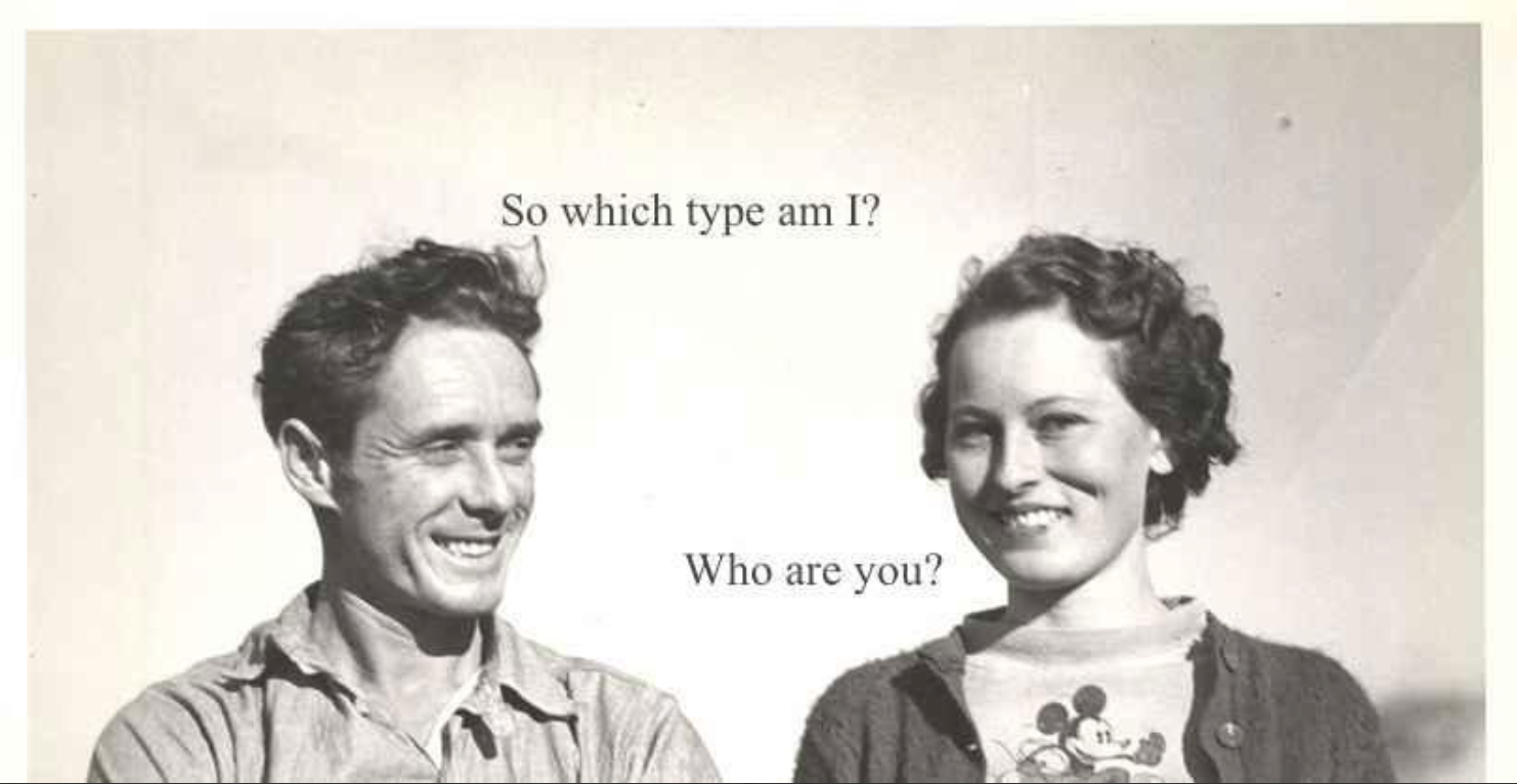 A rare photo of early College of Charleston students flirting .