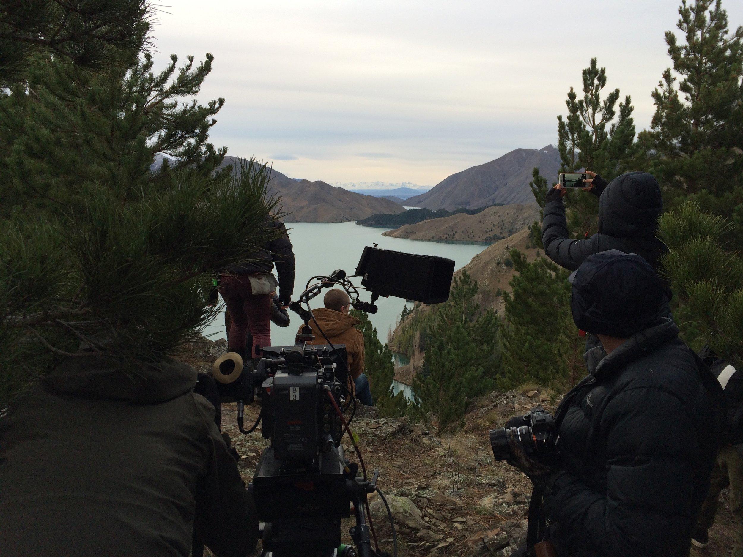 Filming on Benmore Peninsula Track